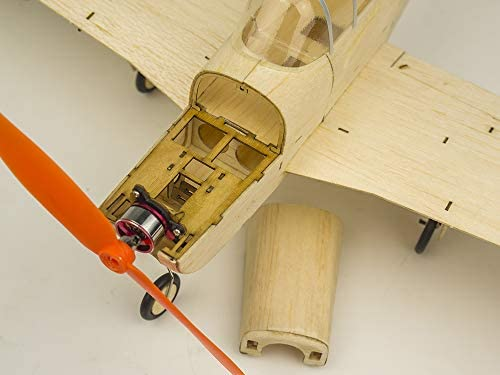 DW fun Mini Balsa Avion en Bois modèle Cessna L-19, 445 mm d'envergure Laser Cut Model Aircraft Kits à Construire, Bricolage électrique 4CH Avions (KIT + Moteur + ESC + servo)