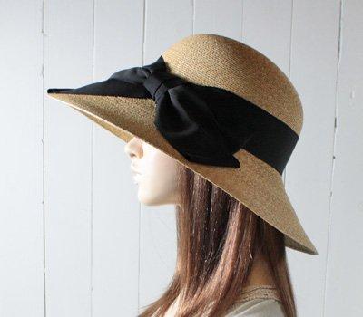 石田製帽 日本製 極細麦ブレードつば広ストローハット