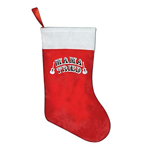 Cheap  NYSOUVENIRS Mama Tried Cute Country Music Southern Rebel Christmas Stocking Festival Party..
