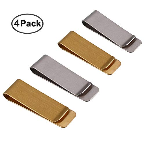 IHUIXINHE Metal Money Clip for Cash and Credit Cards, Brass Banknote Clip, Credit Card Holder, Wallet Credit Card Holder for Men, Slim and Simple ()