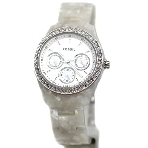 Fossil Women's ES2790 Stella Pearlized White Resin Watch
