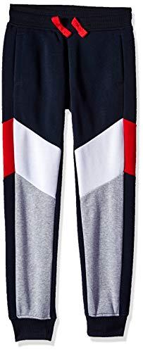 (Southpole - Kids Big Boys Active Basic Jogger Fleece Pants, Navy Color Block, Medium)