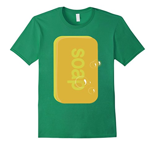 Men's Soap bar   last minute funny Halloween costume tshirt XL Kelly Green ()