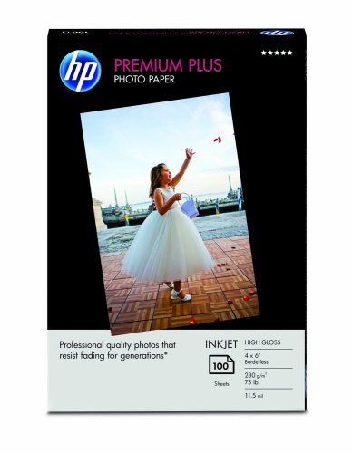 HP Premium Plus Photo Paper, High Gloss (100 Sheets, 4 x 6 Inches - 100 6 Gloss Sheet High