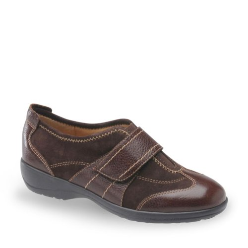 Softspots Aeryn Color: Chocolate Leather / Chocolate Suede Width: Wide Womens Size: 11