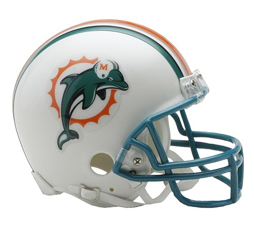 Miami Dolphins 1997-2012 Throwback Riddell Mini Football Helmet - New in Riddell...
