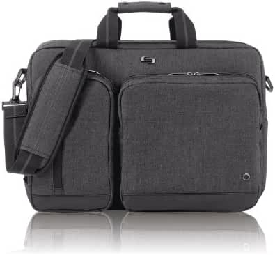 SOLO UBN310 15.6-Inch Laptop Hybrid Briefcase Backpack - Grey