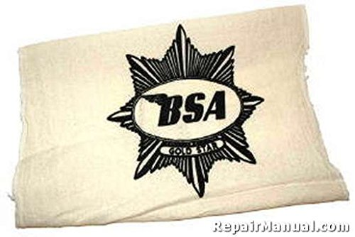 SR-BSA-Black BSA Motorcycle Cotton Shop Rag
