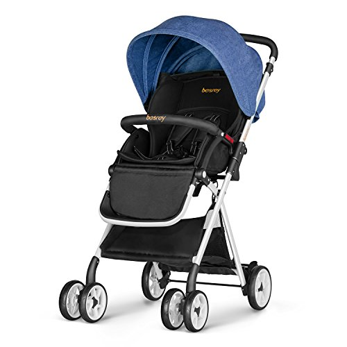Besrey Lightweight Baby Stroller Foldable Infant Baby Stroller – Blue