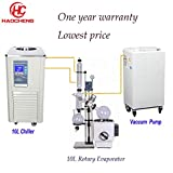 haocheng Hot Sales 10L Manual Lift CBD Solvent Lab Rotovap with Chiller and Pump