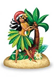 Hawaiian Christmas Ornament Island Hula Honeys #2 by Buns of Maui