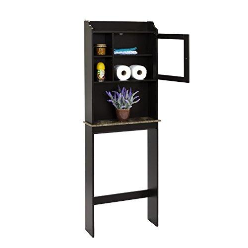 espresso bathroom storage cabinet - 6