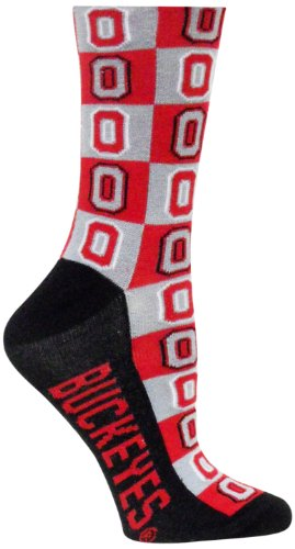 Donegal Bay NCAA Ohio State Buckeyes Checker Dress Socks ()