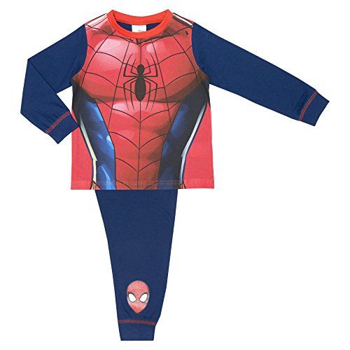 Marvel Spiderman Novelty Boys Pyjamas Replica Design - 3-4 Years / up to 104 cm - Spiderman Outfit Replica