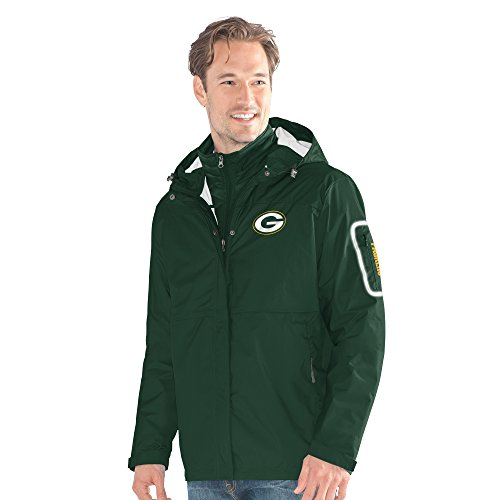 G-III Sports NFL Green Bay Packers Acclimation 3-in-1 Systems Jacket, Small, Green from G-III Sports