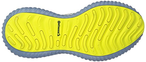 adidas Men's Alphabounce Beyond Running Shoe, Steel/raw Grey/Shock Yellow, 7 M US by adidas (Image #3)