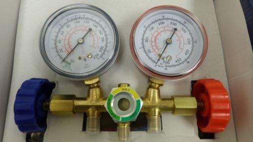 New MTN-G AC Manifold Gauge Set Air Conditioner Pump Service Kit R12 R22 R502 HVAC R134A