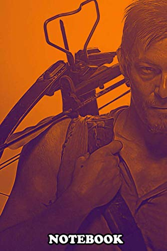 """Notebook: Daryl From The Walking Dead Painting , Journal for Writing, College Ruled Size 6"""" x 9"""", 110 Pages"""
