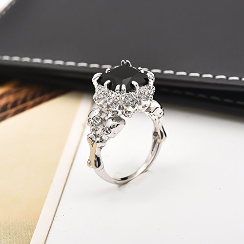 DALARAN Gothic Jewelry Skull Ring Size 9 Silver Band High Polished Comfort Fit Women Men Accessories by DALARAN (Image #3)