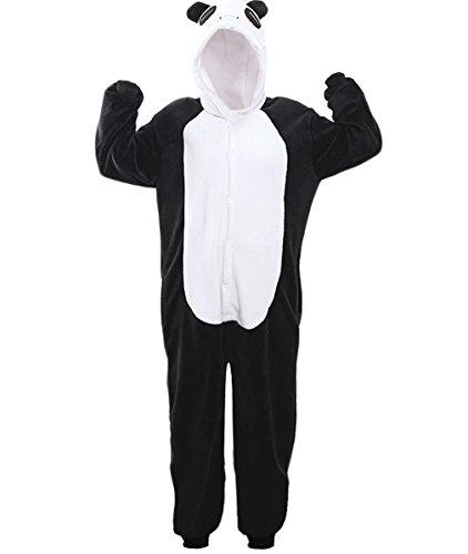 Panda Suit (Adult Onesie Cosplay Pajamas Sleepsuit Animal Kung Fu Flannel Panda Raccoon)