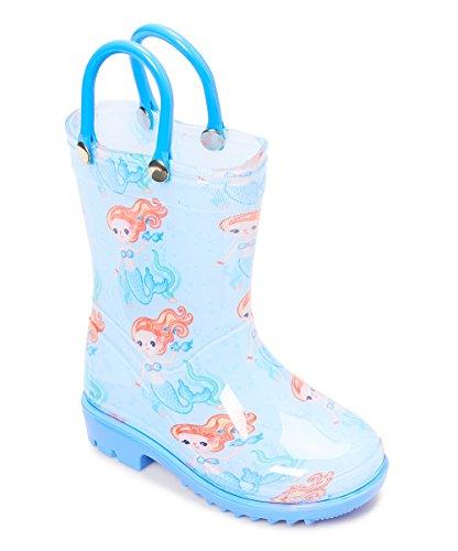 Storm Kidz Kids Girls Mermaid Printed Rainboots, Little Kid 2