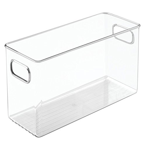 mDesign Office Supplies Desk Organizer Bin for Pens, Pencils, Markers, Highlighters, Tape - Pack of 4, 10'' x 4'' x 6'', Clear by mDesign (Image #8)