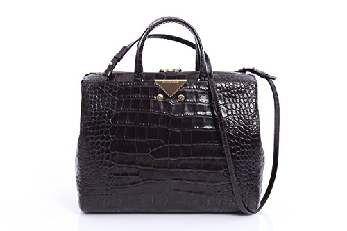 EMPORIO ARMANI BOWLING BAG DARK BROWN, Womens, Size: One - Bag Armani Brown
