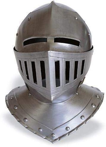 中世 スチール製 ヨーロピアン クローズドヘルム LARP コスプレ 兜