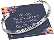 Bracelets for Women Girls Personalized Gifts, Quote Mantra Bracelet Funny Inspirational Jewelry Gifts for Best