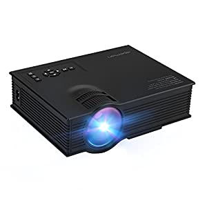 APEMAN Video Projector LCD LED Portable Mini Projector Multimedia Home Theater Support 1080P with HDMI/VGA/USB/SD Card/AV Input for Video Game Outdoor Movie Cinema
