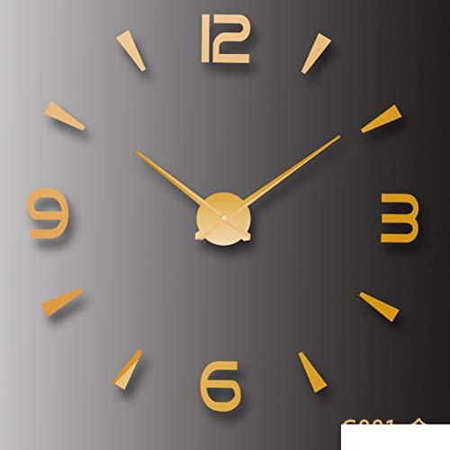 - WEIWEI Creative Wall Sticker Wall Clock, Diy Acrylic Wall Clock Living Room Decorative Wall Clock-C