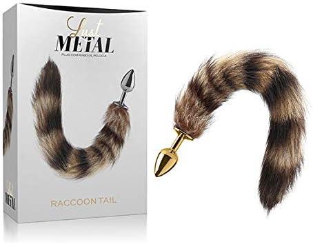 Plug Anal Cauda Lust Metal Plug Raccoon Tail Gold Amazon Com Br