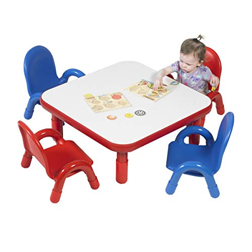 Angeles Toddler Table & Chair Set CANDY APPLE RED