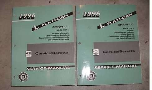(1996 Chevrolet Chevy Corsica Beretta Service Manual Set (2 volume set which includes book 1 and 2.))