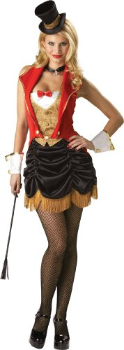 Ringmaster Costume Whip (InCharacter Costumes Women's Three Ring Hottie Burlesque Ringmaster, Red/Gold/Black, Medium)