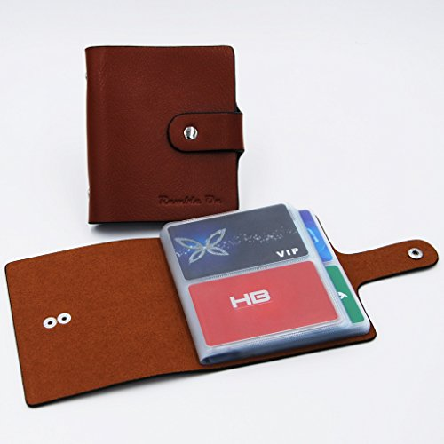 Ramble On Genuine Leather Business Card / Credit Card Holder - Compact Storage - Holds up to 80 Business Cards or 40 Credit Cards - for All your Important Cards - Comes in a Great Gift Box (Brown) Photo #5