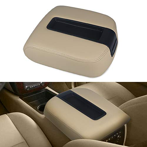 VANJING Center Console Lid Armrest Kit Cover Compatible for 2007-2013 Chevy Avalanche Silverado Tahoe Suburban GMC Yukon Yukon XL Sierra-Replaces 15217111 15941534