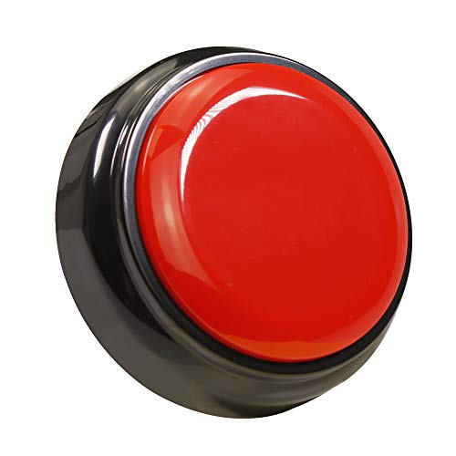 - Recorder Button 30 Second, Recordable Talking Button with Good Sound Quality,Record Sound Button for Gift Toys EducationIncludes 2 AAA Batteries (Red+Black)