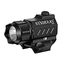 SyndeRay G01 CREE LED Tactical Gun Flashlight 2-Mode 600LM Pistol Handgun Torch Light for Hiking,Camping,Hunting and Other Indoor/Outdoor Activities