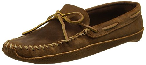 Minnetonka Men's Double Bottom Softsole Moccasin (Brown Ruff)-11.5 M - Medieval Moccasins