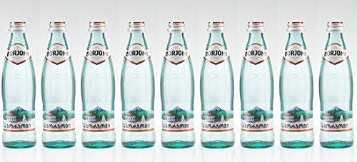 Mineral agua BORJOMI Con gas agua en botella de cristal, 0,5 l [