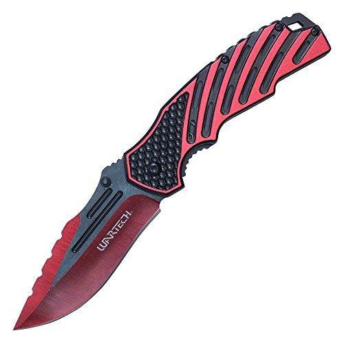Wartech Thumb Open Spring Assisted Two Color Aluminum Handle