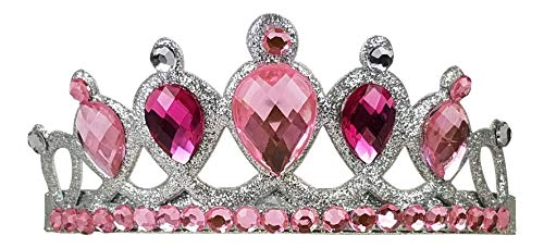 Butterfly Twinkles Queen Princess Gem Tiaras Crown Headband Little Girls Costume (Pink)