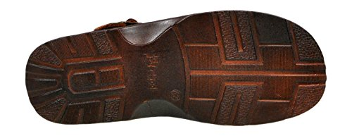 con 839 Lukpol Forma Bufalo Sandali Pelle da di Comodi Modello Uomo Scarpe Ortopedica Chocolat Vera Calzature xR664wqBY
