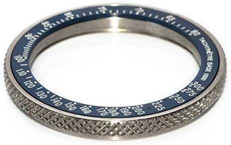 Bezel for Watches Vostok Amphibian, Komandirskie + Ceramic Insert Speedmaster Blue Ocean (X-type) 28