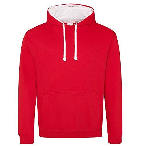 Hoods arctique Sweat 2 1 po rouge rouge feu blanc à Just Unknown capuche Varsity OZw55E