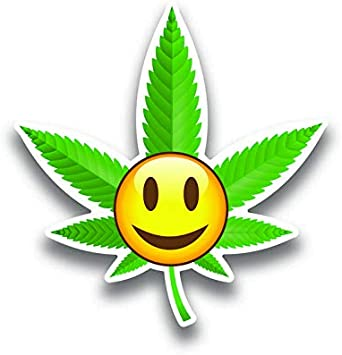 Marijuana Weed Sticker Vinyl Wall Bumper Bottle Phone Laptop Decal Go Green
