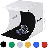 Portable Photo Studio Box with 2x20 LED Lights 6 Colors Backdrops