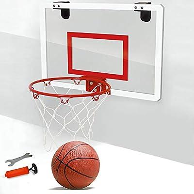HONGY Mini aro de Baloncesto Colgar con balón de Baloncesto y ...