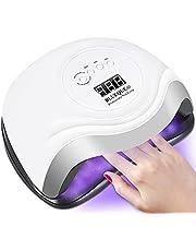 Nageldroger, 168 W UV LED nagellamp voor gelnagels met 4 timerinstellingen, infraroodsensor, LCD-display, sneldrogende nagellamp voor vingernagels en teenail nageldesign, geschikt voor alle gels